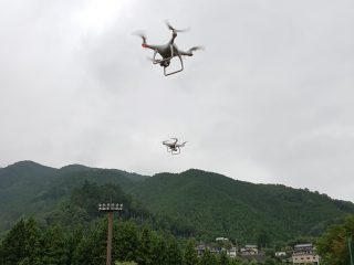 Field test of SCS with multiple drones